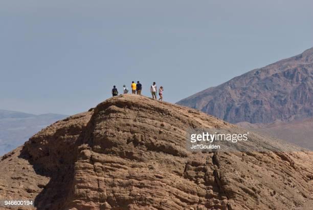 Hikers on Zabriskie Point
