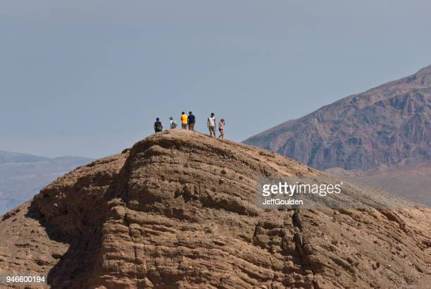 Hikers on Zabriskie Point