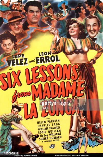 Six Lessons From Madame La Zonga poster Eddie Quillan William Frawley Guinn 'Big Boy' Williams Lupe Velez 1941