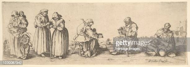 Six Men and Women Beggars 1630 Artist Wenceslaus Hollar