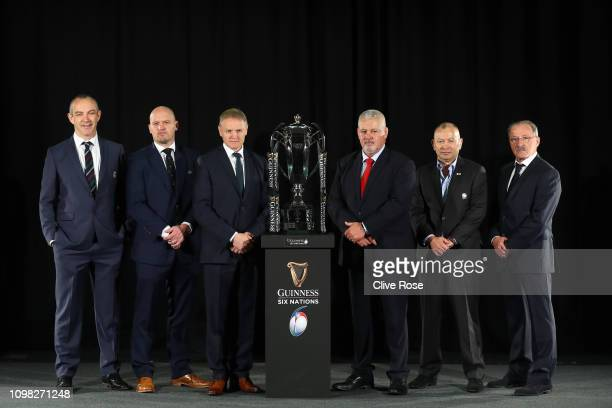 Six nations international rugby coaches Scotland's Gregor Townsend Italy's Conor O'Shea Ireland's Joe Schmidt Wales' Warren Gatland England's Eddie...