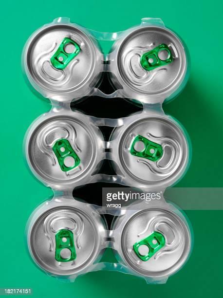 シックスパックのビール - 6缶パック ストックフォトと画像