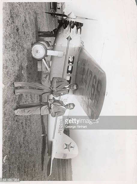 Six Planes Race West Three Out of NonStop CoasttoCoast Flight in National Air Derby Roosevelt Field LI Photo Shows The favorites in the nonstop...