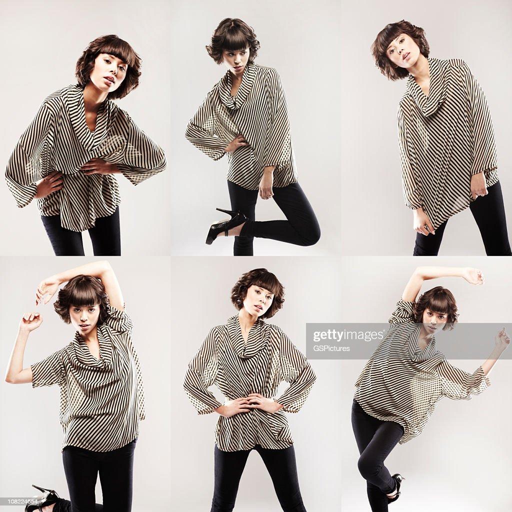 Six Poses : Stock Photo