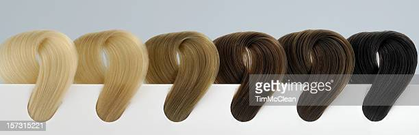 six shades of hair - highlights hair stock pictures, royalty-free photos & images