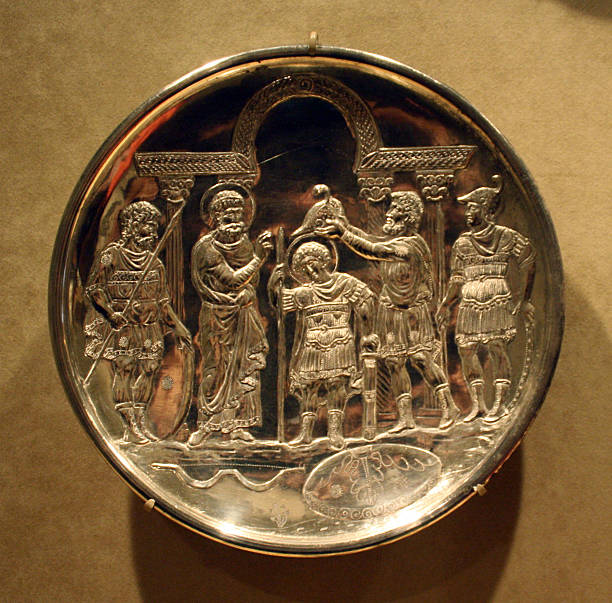 Silver Plate With Scenes From Early Life Of David Pictures Getty