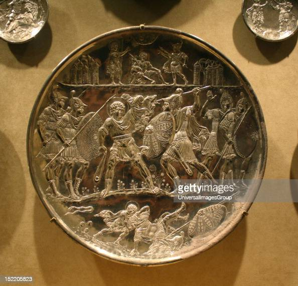 Six Silver Plates With Scenes From The Early Life Of David Cast