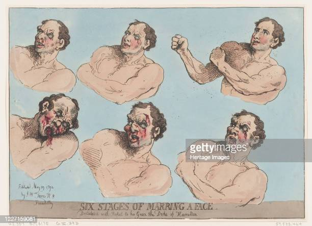 Six Stages of Marring a Face May 29 1792 Artist Thomas Rowlandson