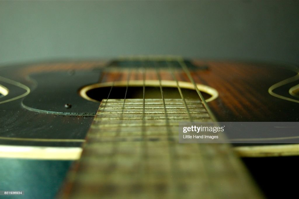 Six String Acoustic Guitar : Stock Photo