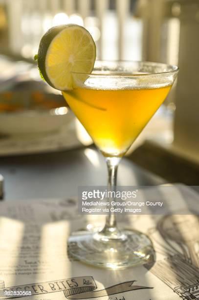 Six Tentacles Kikori Japanese Whiskey Yuzuri Yuzu Liquid Alchemist Passion Fruit fresh lime juice and Agave nectar at Lamplight Lounge at Pixar Pier...