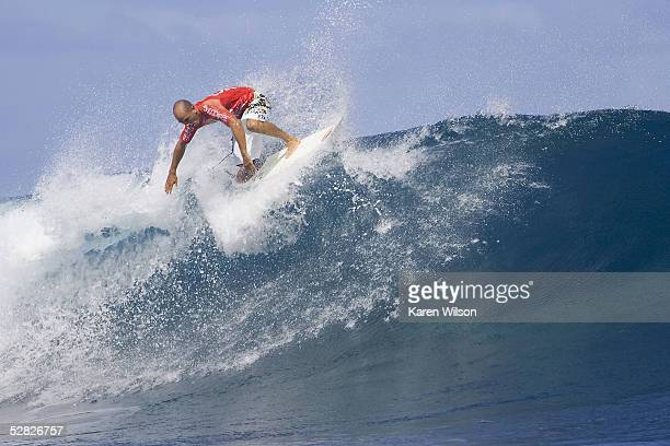 Six times ASP world champion and former Billabong Pro Tahiti winner Kelly Slater of USA rides a wave during round one of the Billabong Pro on May 14...