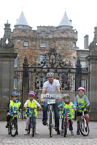 Six times gold medalist Sir Chris Hoy joins a group of cycling enthusiasts at Holyrood Palace today ahead of the first ever Sky Ride Edinburgh a free...