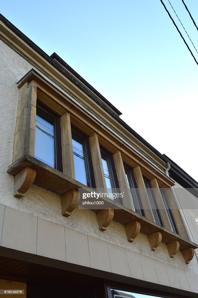 Six windows of facade. : Stock Photo
