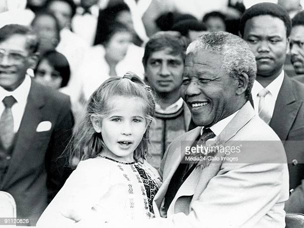 Six year old Cathleen Shiman's dream of meeting Nelson Mandela was finally realised when she saw him at an unveiling of a statue of Mohandas Ghandi...