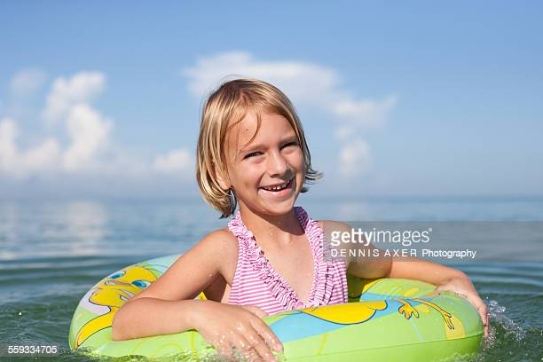 Six year old girl in the Gulf of Mexico