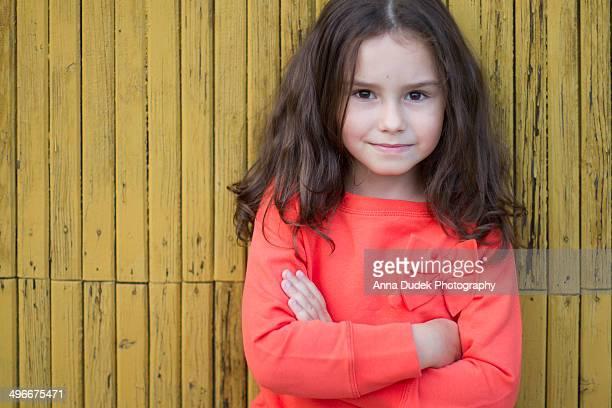 Six years old girl portrait