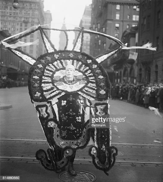 Sixteen Thousand Mummers in Annual Parade Photo shows William Murphy of the Silver Crown Club in his picturesque costume in which he appeared in the...