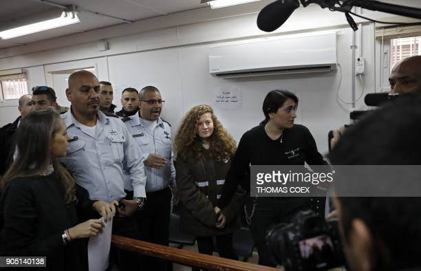 Sixteenyearold Palestinian Ahed Tamimi a wellknown campaigner against Israel's occupation stands for a hearing in the Israeli military court at Ofer...