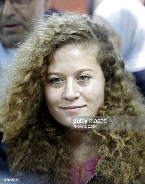 Sixteenyearold Palestinian Ahed Tamimi a wellknown campaigner against Israel's occupation arrives for the beginning of her trial in the Israeli...