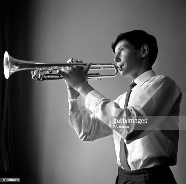 Sixteenyearold trumpeter John Wallace of Glenrothes Fife at Wigmore Hall where he was among a number of outstanding young musicians members of...