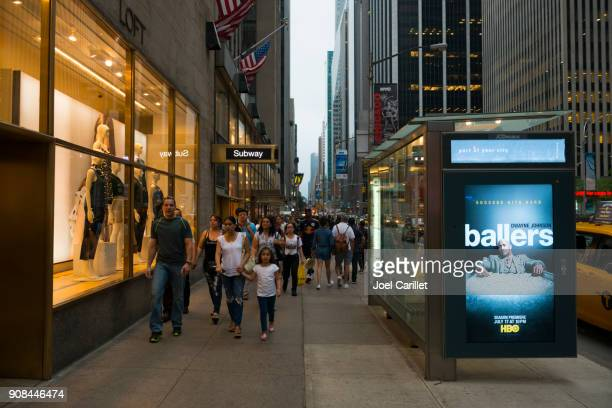 sixth avenue in midtown manhattan, new york city - underground television show stock pictures, royalty-free photos & images