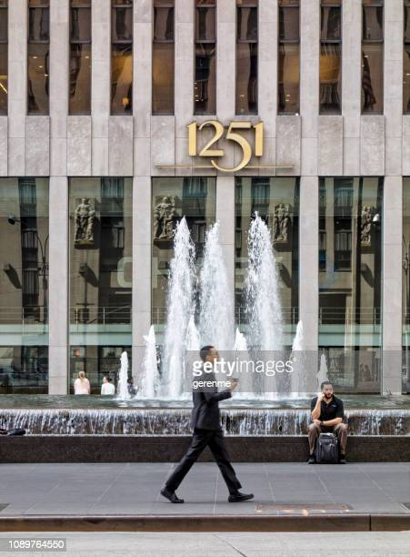 sixth avenue - new yorker building stock photos and pictures