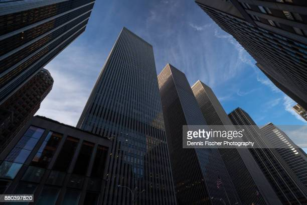 sixth avenue towers manhattan - sixth avenue stock pictures, royalty-free photos & images