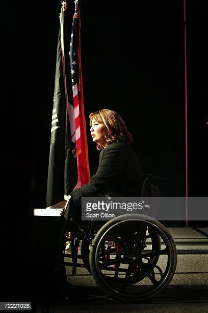 Sixth congressional district Democratic Candidate Tammy Duckworth speaks to the National Symposium for the Needs of Young Veterans hosted by AMVETS...
