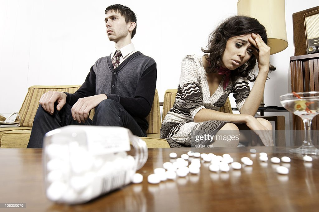 Sixties Couple: Drug Addiction : Stockfoto