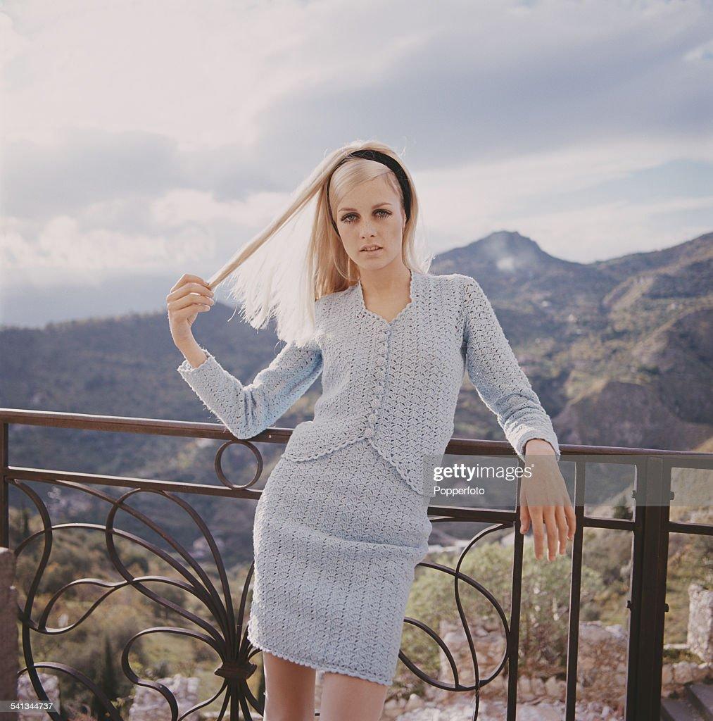 Twiggy In Blue Knit : ニュース写真