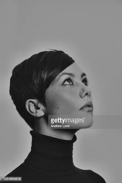 sixties style model with short hair - 1960~1969年 ストックフォトと画像