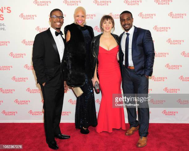 Sixto Cancel Michelle Walker Aisha van Ter Sluis and Darrell Booker attends the Children's Rights Gala on October 16 2018 in New York City