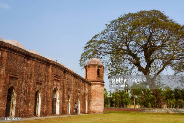 sixty dome mosque - khulna stock photos and pictures