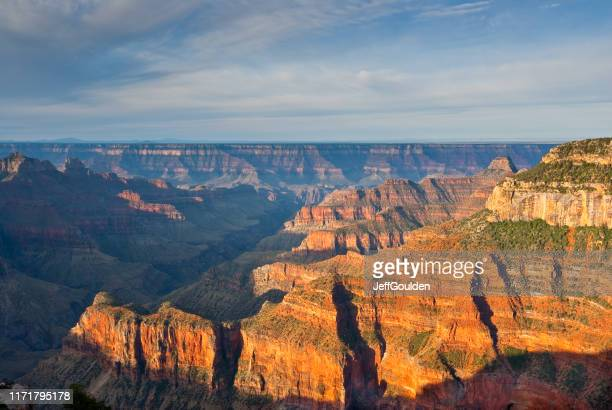 bright angel canyon at sunrise - jeff goulden stock pictures, royalty-free photos & images