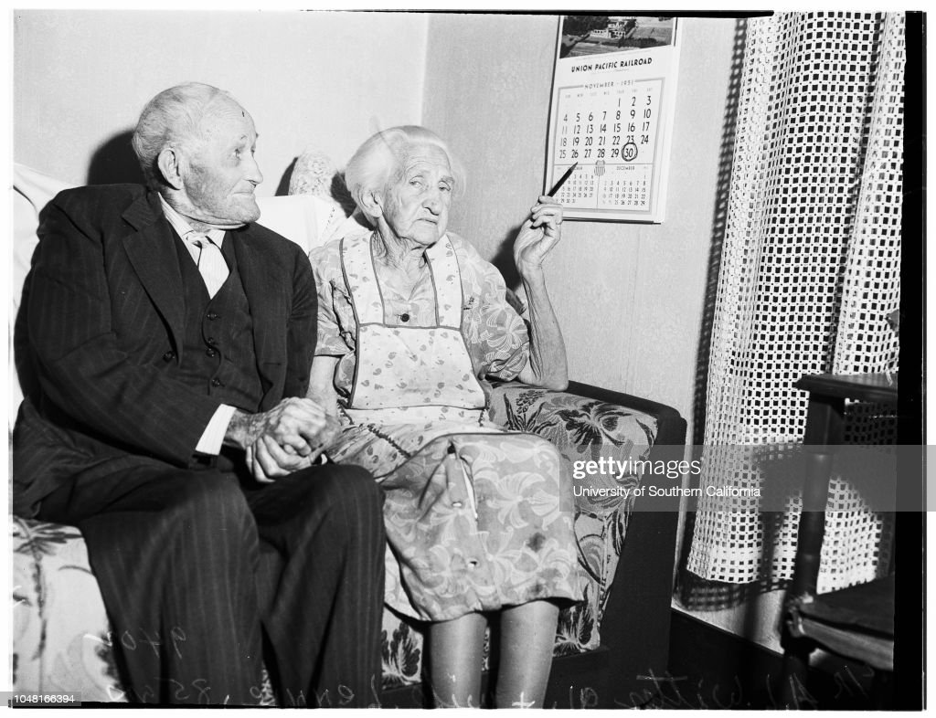 Sixty Fifth Wedding Anniversary 1951 News Photo