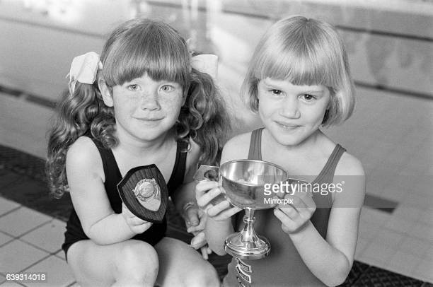 Sixyearold swimmer Charlotte Ann St Clair is the Duckling of the Year at Elland Baths With her is runner up Lucinda Ward Charlotte of Greetland...