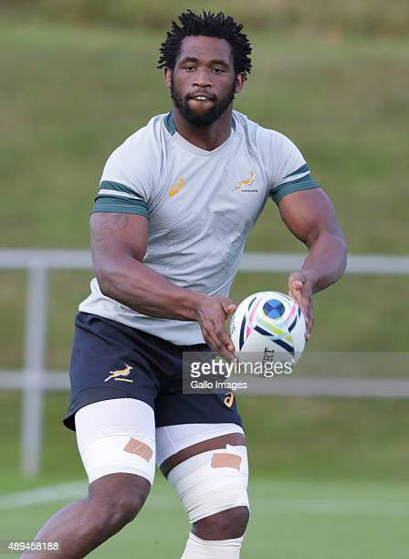 Siya Kolisi during the South African national rugby team training session at University of Birmingham on September 21 2015 in Birmingham England