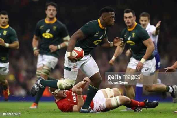 Siya Kolisi of South Africa during the International Friendly match between Wales and South Africa at Principality Stadium on November 24 2018 in...