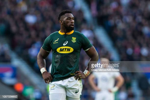 Siya Kolisi of South Africa during the Quilter International match between England and South Africa at Twickenham Stadium on November 3 2018 in...
