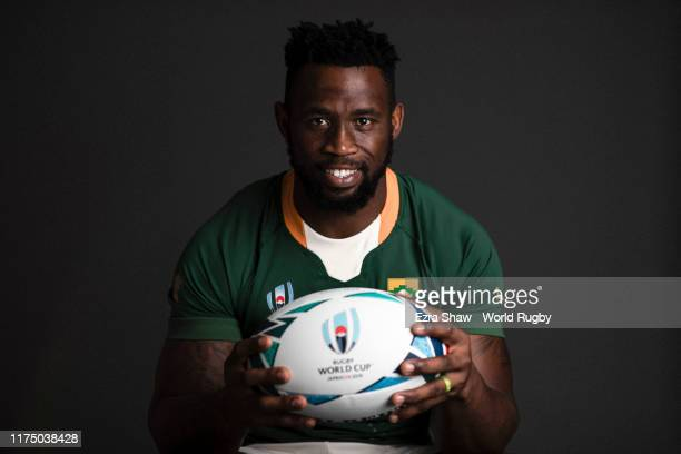 Siya Kolisi of South Africa poses for a portrait during the South Africa Rugby World Cup 2019 squad photo call on September 15 2019 in Tokyo Japan