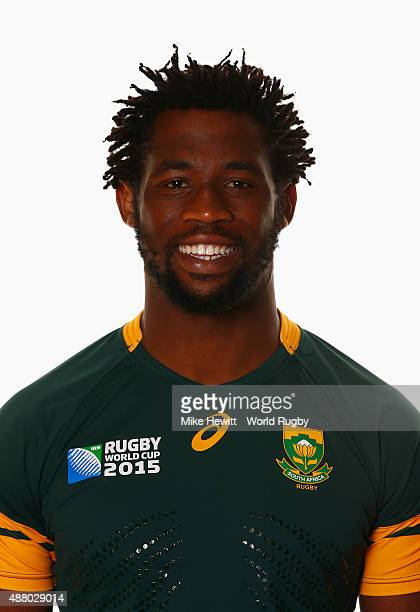 Siya Kolisi of South Africa poses for a portrait during the South Africa Rugby World Cup 2015 squad photo call at the Grand Hotel on September 13...