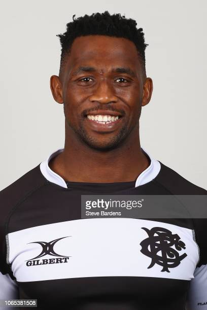 Siya Kolisi of the Barbarians poses for a portrait during the Barbarians Squad Photocall at Hilton Park Lane on November 26 2018 in London England...
