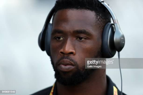 Siya Kolisi of The DHL Stormers during the Super Rugby match between Cell C Sharks and DHL Stormers at Jonsson Kings Park on April 21, 2018 in...