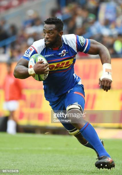 Siya Kolisi of the Stormers during the match between DHL Stormers and Reds at DHL Newlands Stadium on March 24 2018 in Cape Town South Africa
