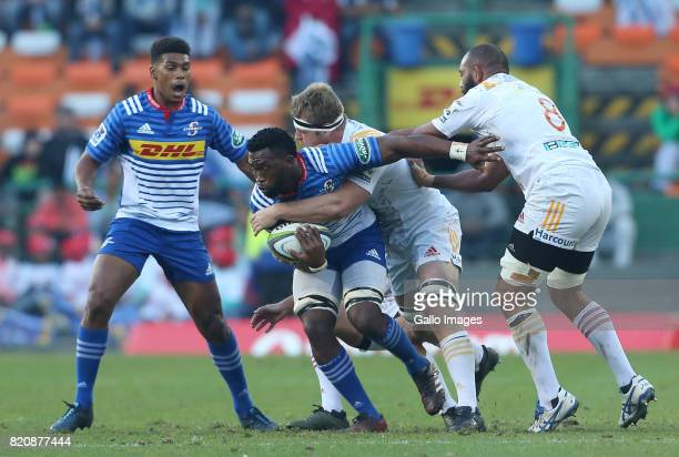 Siya Kolisi of the Stormers during the Super Rugby Quarter final between DHL Stormers and Chiefs at DHL Newlands on July 22 2017 in Cape Town South...