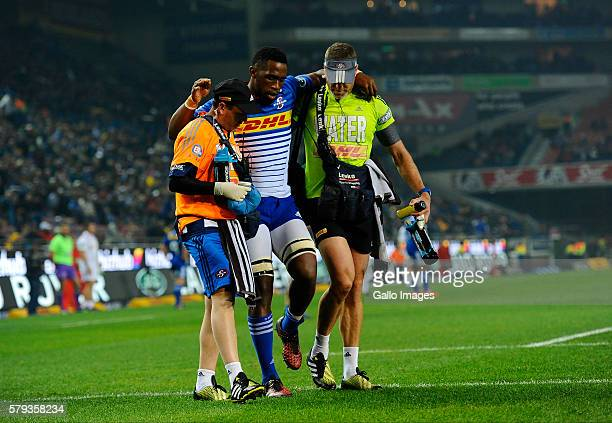 Siya Kolisi of the Stormers during the Super Rugby Quarter Final match between the DHL Stormers and Chiefs at DHL Newlands on July 23 2016 in Cape...