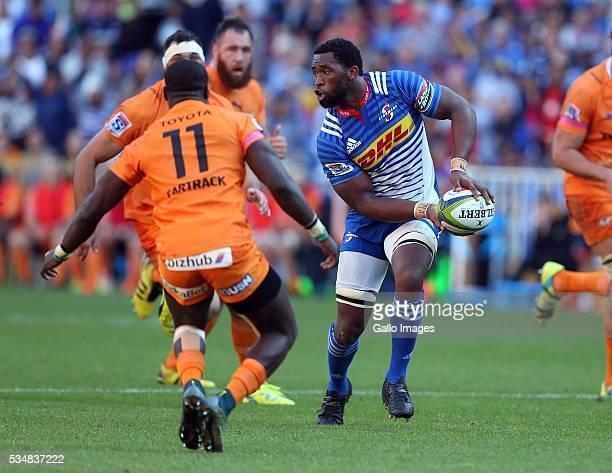 Siya Kolisi of the Stormers in action during the Super Rugby match between DHL Stormers and Toyota Cheetahs at DHL Newlands on May 28 2016 in Cape...