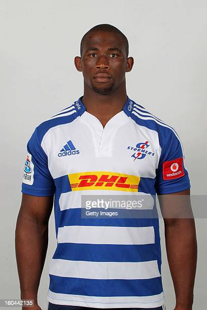 Siya Kolisi poses during the official 2013 Stormers Headshots session on January 15 2013 in Bloemfontein South Africa