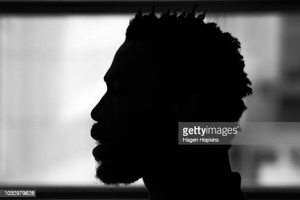 Siyamthanda Kolisi speaks to media during a South Africa Springboks press conference at Rydges Hotel on September 14 2018 in Wellington New Zealand