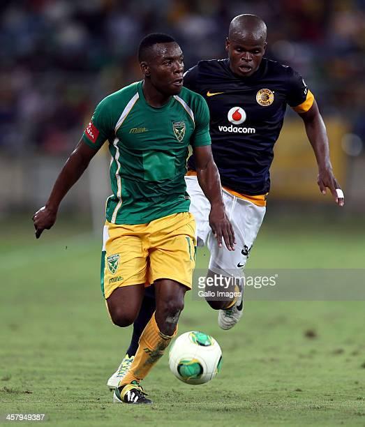Siyanda Zwane of Lamontville Golden Arrows during the Absa Premiership match between Golden Arrows and Kaizer Chiefs at Moses Mabhida Stadium on...